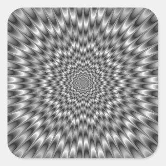 Black and White Eye Bender Square Sticker
