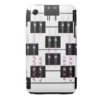 Black and white eye boxes Case-Mate iPhone 3 case