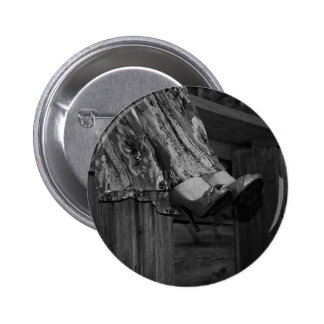Black and White Fashion 6 Cm Round Badge