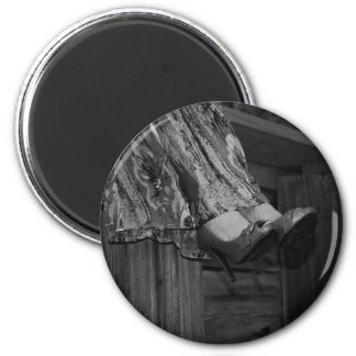 Black and White Fashion 6 Cm Round Magnet
