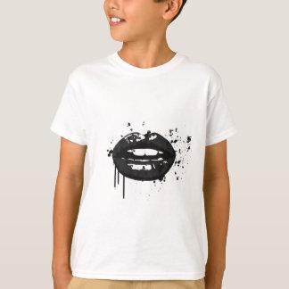 Black and white fashion glamour lips illustration T-Shirt