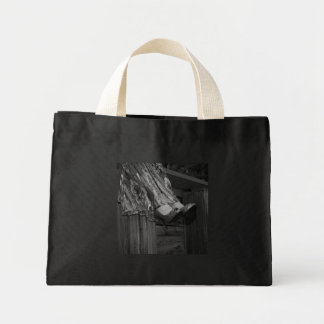 Black and White Fashion Mini Tote Bag