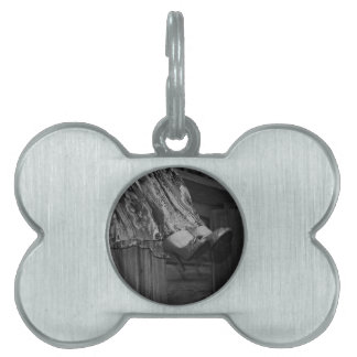 Black and White Fashion Pet Tag
