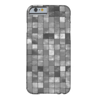 Black and White Faux Ceramic Tile Pattern Barely There iPhone 6 Case
