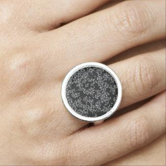 Black and White Faux Lace Design