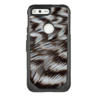 Black and White Feathers in Detail OtterBox Commuter Google Pixel Case