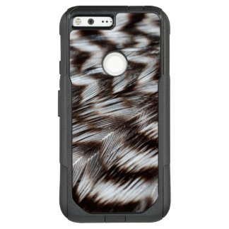 Black and White Feathers in Detail OtterBox Commuter Google Pixel XL Case