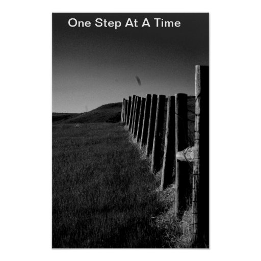 Black and white Fence Poster/Motivational