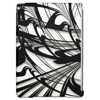 Black and White Fern Glen Cover For iPad Air