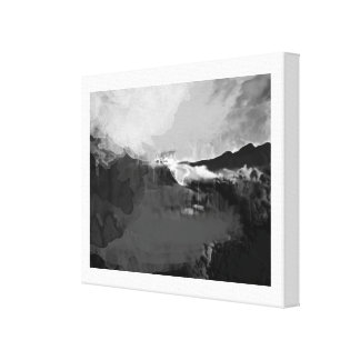 Black and white fictional painting canvas print