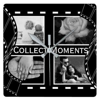 Black and White Film Reel Wallclocks
