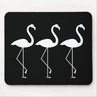 Black and White Flamingo Mousepad