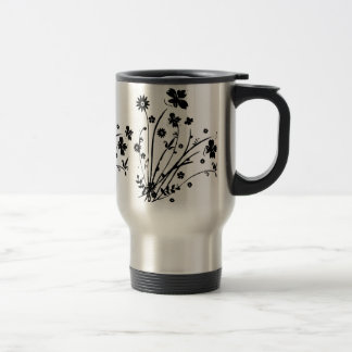 Black And White Floral Burst Mug