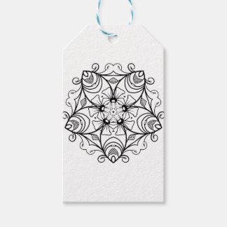 Black-And-White-Floral-Design-2 Gift Tags
