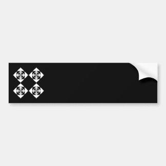 Black and White Floral Design. Bumper Sticker