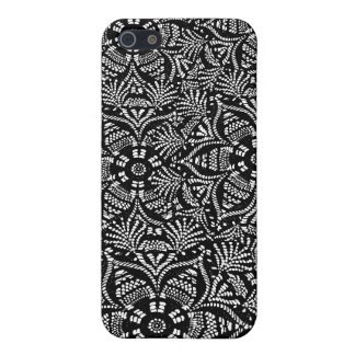 Black and White Floral Design Cover For iPhone 5/5S
