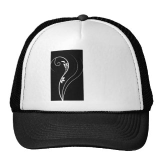 Black and White Floral Elegance Cap