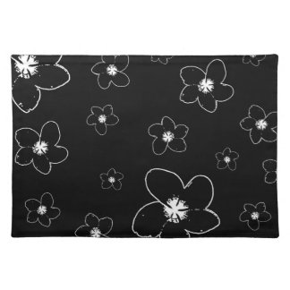 Black and White Floral Elegant Place mats