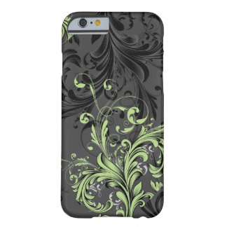 Black and White Floral Flourish Barely There iPhone 6 Case