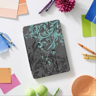 Black and White Floral Flourish iPad Air Cover