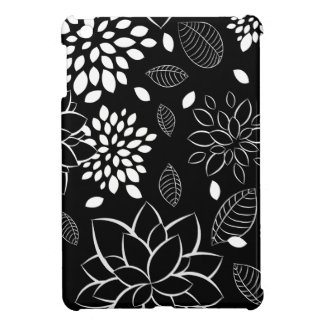 Black and White Floral Pattern Cover For The iPad Mini