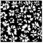 Black and white floral pattern. Funky. Photo Cut Outs