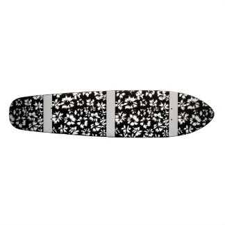 Black and white floral pattern. Funky. Skateboards