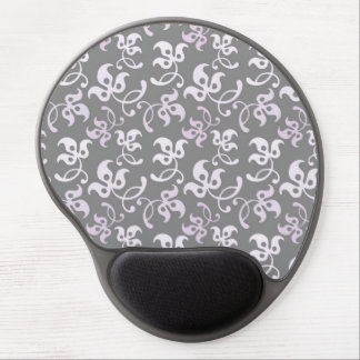 Black And White Floral Print Gel Mouse Pad