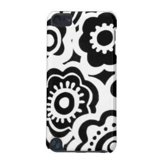 Black and White Floral Printed iPod 5 case