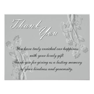 Black and White Floral Wedding Postage 11 Cm X 14 Cm Invitation Card
