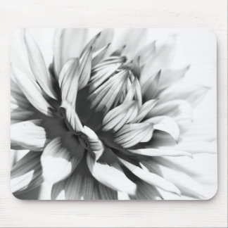 Black and white Flower Close up Mouse Mat