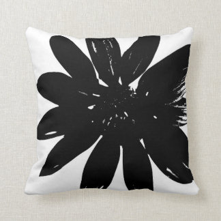 Black and White Flower Pillow