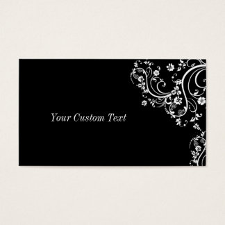 Black and White Flower Scroll