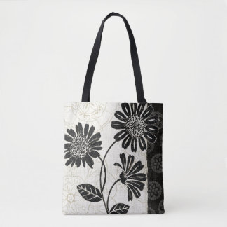 Black and White Flowers 2 Tote Bag