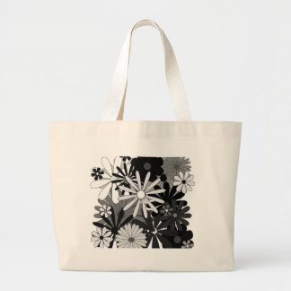 Black and White Flowers Bags
