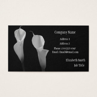 Black and White Flowers Buiness Card