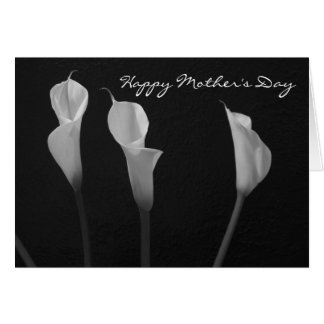 Black and White Flowers Mother's Day Card