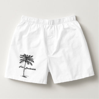 Black and White Fort Lauderdale & Palm design Boxers
