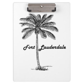 Black and White Fort Lauderdale & Palm design Clipboard