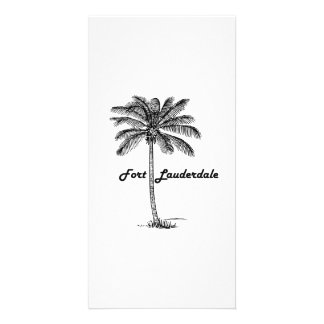 Black and White Fort Lauderdale & Palm design Customised Photo Card