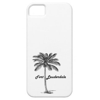 Black and White Fort Lauderdale & Palm design iPhone 5 Cover