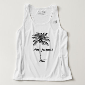 Black and White Fort Lauderdale & Palm design Singlet