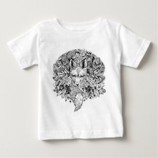Black and white fox in the forest baby T-Shirt