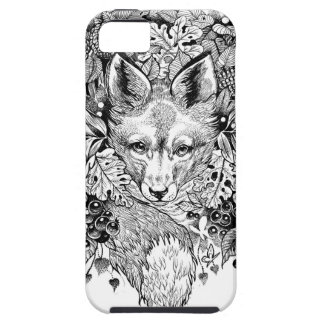 Black and white fox in the forest iPhone 5 cover