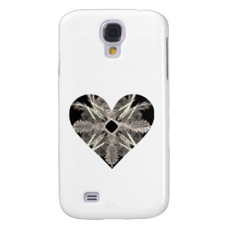 Black and White Fractal Art Heart Shape Galaxy S4 Cover