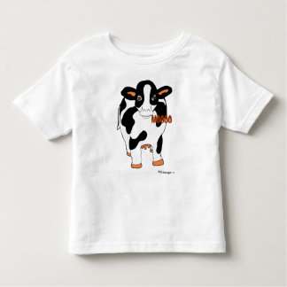 Black and White Front and Back Dairy MOOOO Cow Shi Toddler T-Shirt