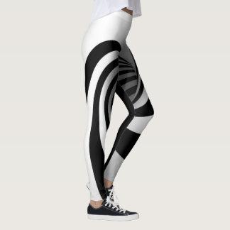 Black and White Fun Funnel Leggings