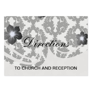 black and white funky damask pattern business cards