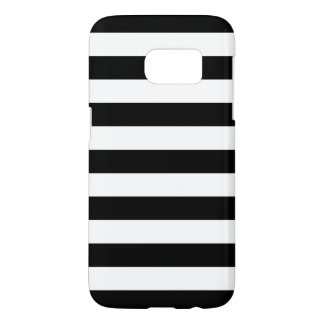 Black and White Galaxy S7 Cases - Nautical Stripe