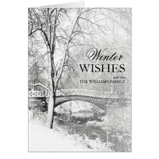 Black and White, Garfield Park, Indianapolis Greeting Card